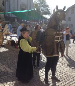 Pferd und Stand